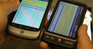 HTC Desire HD Skærmen – S-LCD vs. AMOLED